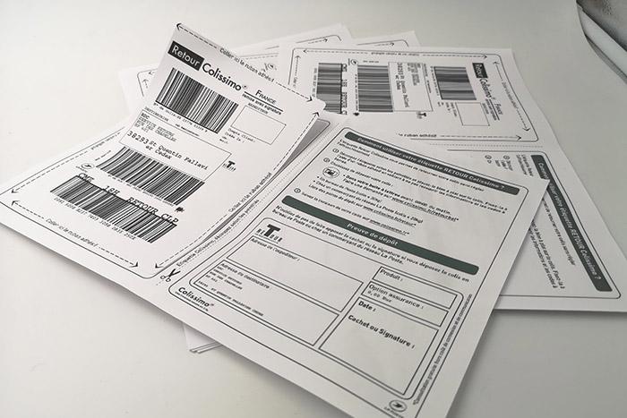 Label Print : Étiquettes intégrées (ou SESAM)